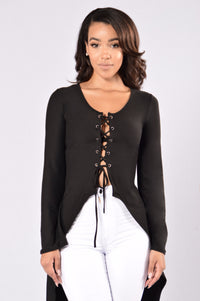 Wavey Top - Black