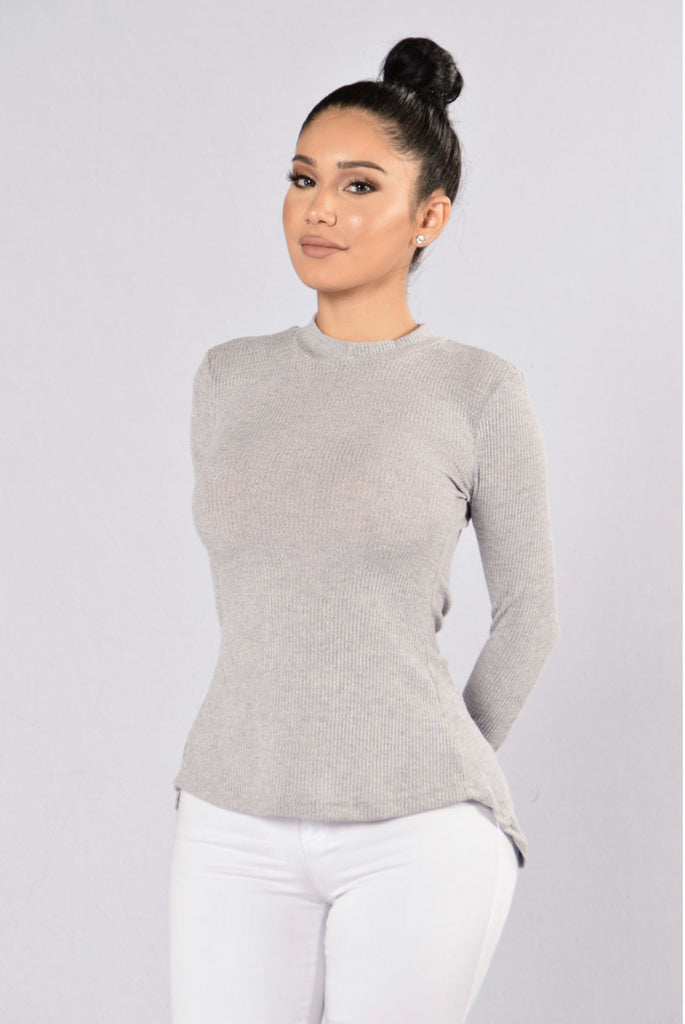 What A Girl Wants Sweater - Grey