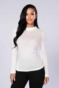 Shine Like Diamonds Top - White