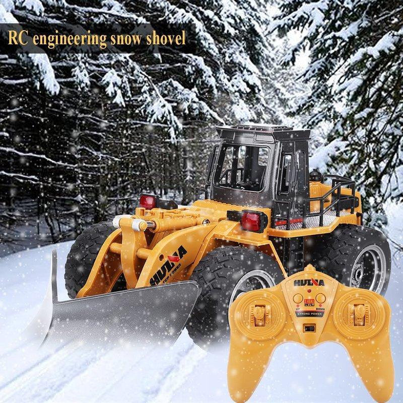 (Up to 50% Off&Limited-Time Free Fast Shipping) 1:18 2.4G Remote Control Snow Clearer Model Vehicle RC Electric Engineering Truck Snowplows 6 Channels car toy kids