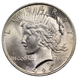 【Limited Sale: 40% off 】1922 Peace Dollars : Normal Relief Early Silver Dollars