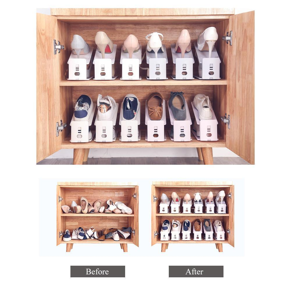 Newer Double Deck Shoe Rack - A Space Saving Shoes Organizer