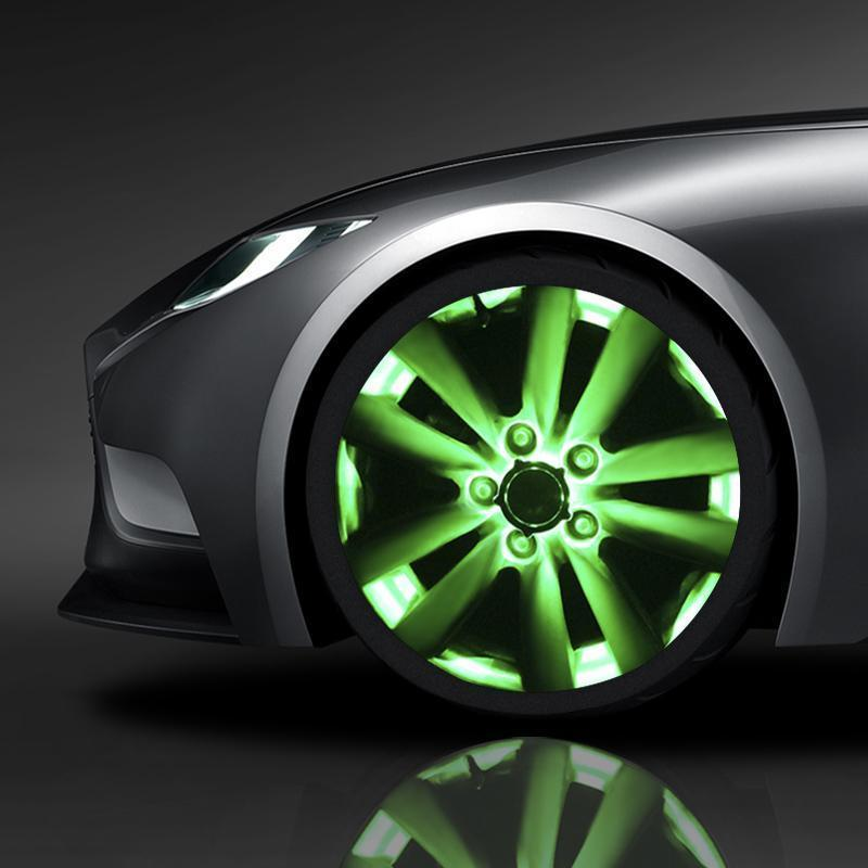 Solar Car Tire Wheel Lights with Wireless Remote Control