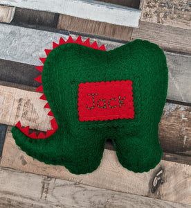 Personalised Dinosaur Tooth Pillow