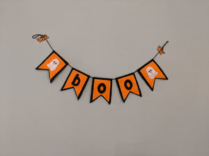 Halloween Boo Pennant Garland (with felt ghosts)