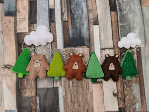Adventure Bears Felt Garland