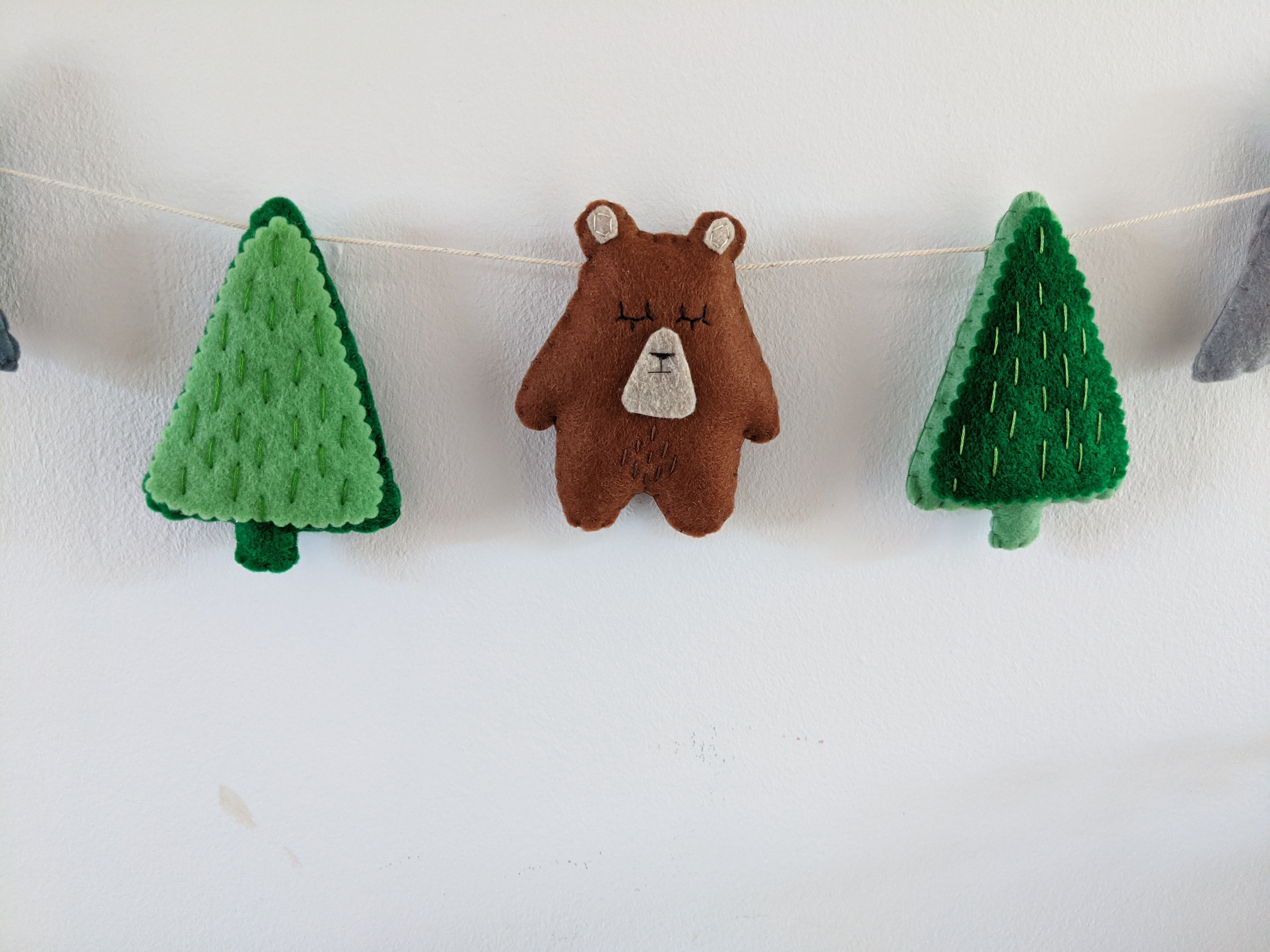 Adventure Bear Felt Garland