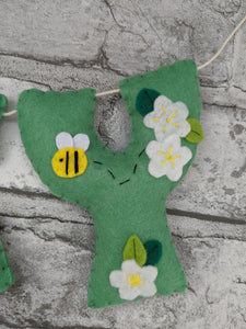 Personalised Bumble Bee Name Banner