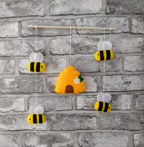 Bumble Bee & Beehive Wall Hanging