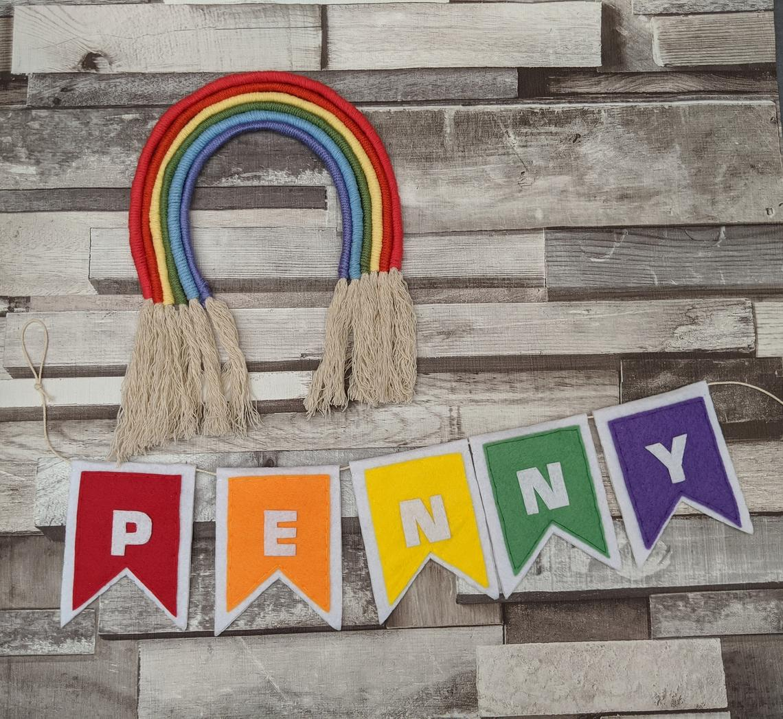 Personalised Rainbow Name Banner