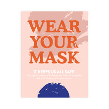 Load image into Gallery viewer, Boutique Face Mask Blue Dot Design Poster