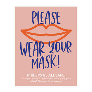 Boutique Face Mask Poster