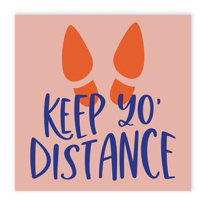 Boutique 'Keep Yo Distance' Floor Decals