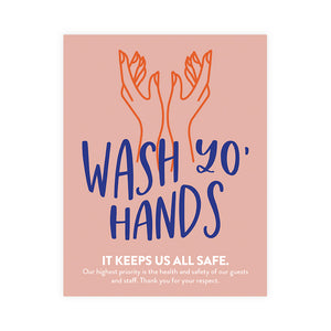 Boutique 'Wash Yo Hands' Poster