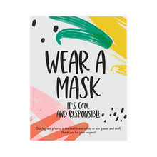 Load image into Gallery viewer, Boutique 'Wear A Mask' Pineapple Design Poster