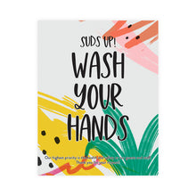 Load image into Gallery viewer, Boutique 'Wash Your Hands' Pineapple Design Poster