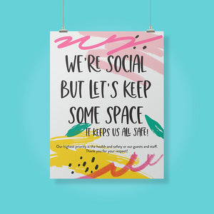 Boutique 'Keep Some Space' Pineapple Design Poster