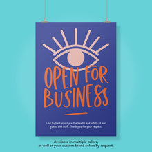 Load image into Gallery viewer, Boutique Open For Business Poster