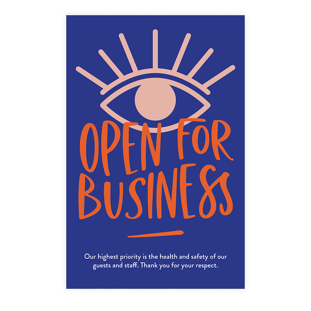 Boutique Open For Business Poster