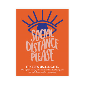 Boutique 'Social Distance Please' Poster