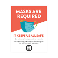 Load image into Gallery viewer, Masks are Required Poster