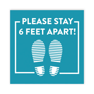 Stay 6ft Apart' Square Floor Decals