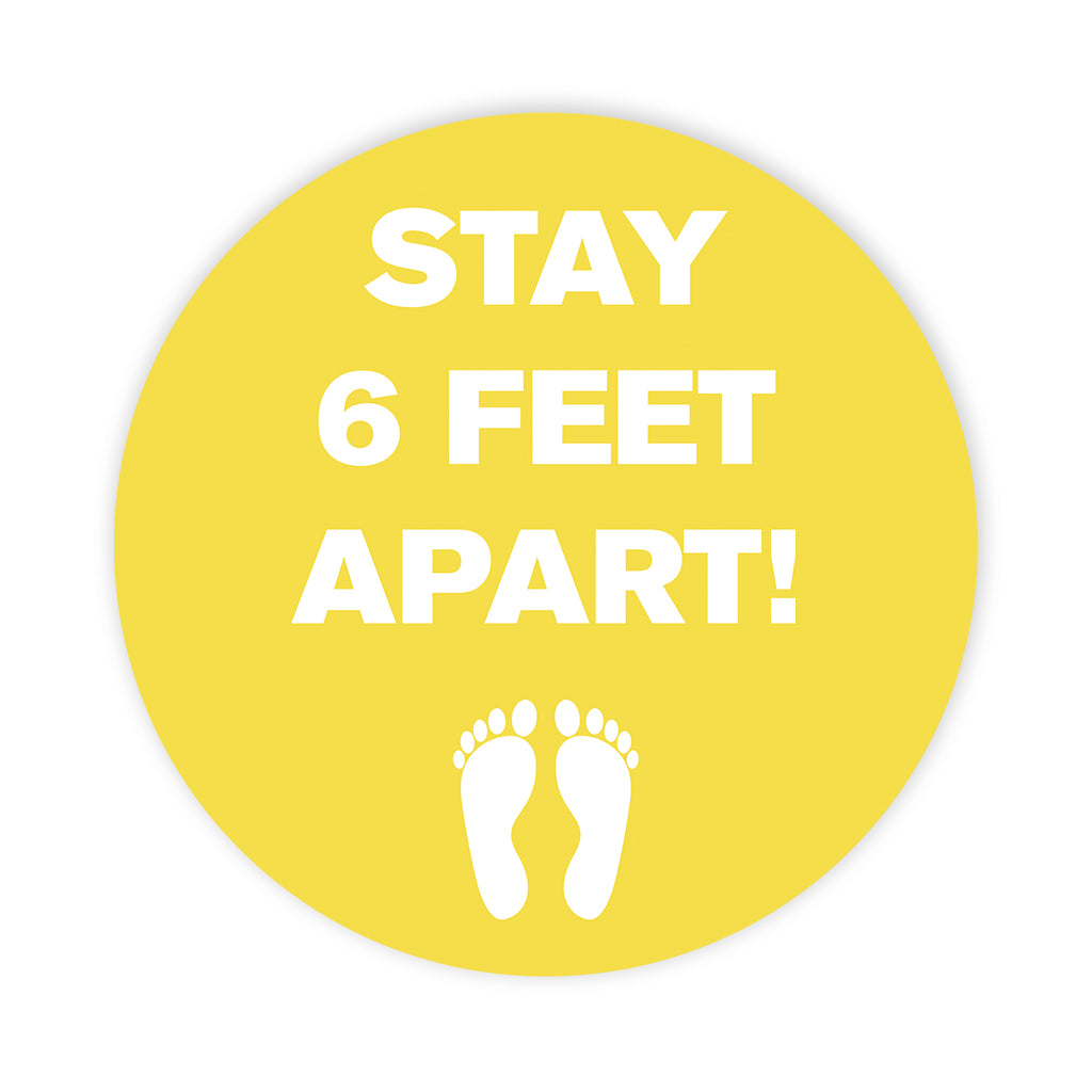 Stay 6ft Apart' Circle Floor Decals