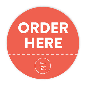 'Order Here' Circle Floor Decals