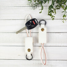Load image into Gallery viewer, Key Chain with iPhone Charging Cable