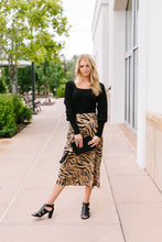 Load image into Gallery viewer, Eye Of The Tiger Midi Skirt