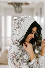 Load image into Gallery viewer, Floral Hints Hooded Pullover