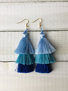 Ombré Silky Tassel Earrings