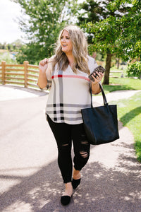 Posh Plaid Blouse