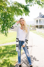 Load image into Gallery viewer, Varsity Blues Striped Cardigan