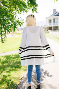 Varsity Blues Striped Cardigan