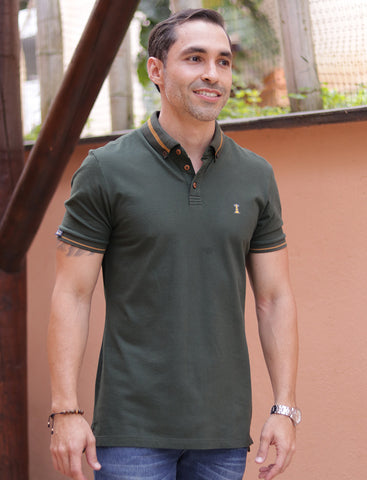 Polo Verde Militar / Regular Fit