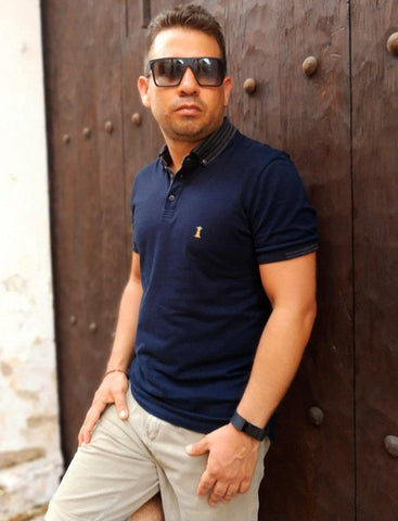 Polo Azul Navy / Slim Fit