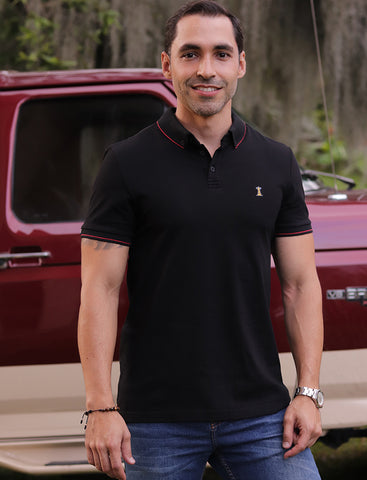 Polo Negra / Regular Fit
