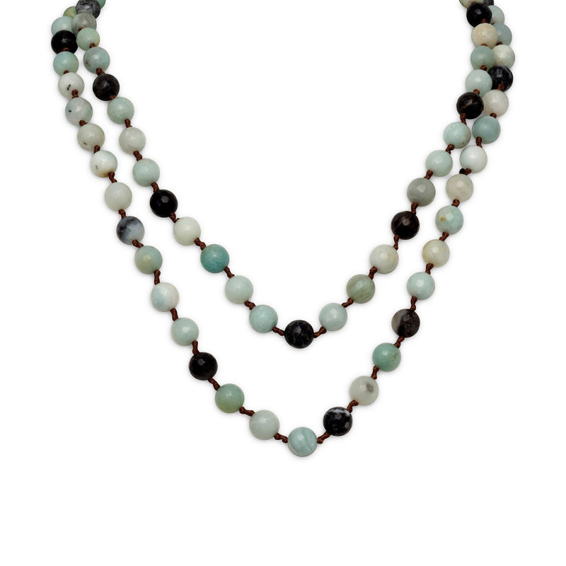 Faceted Amazonite Knotted Necklace