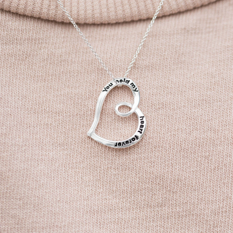 """You Hold My Heart Forever"" Necklace"