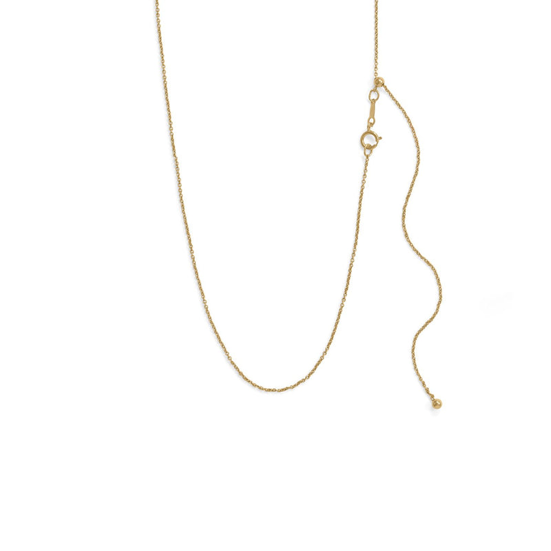 Adjustable 14/20 Gold-Filled Cable Chain