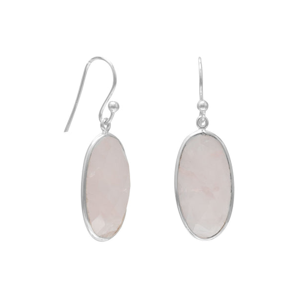 Rose Quartz French Wire Earrings Item #: 64720