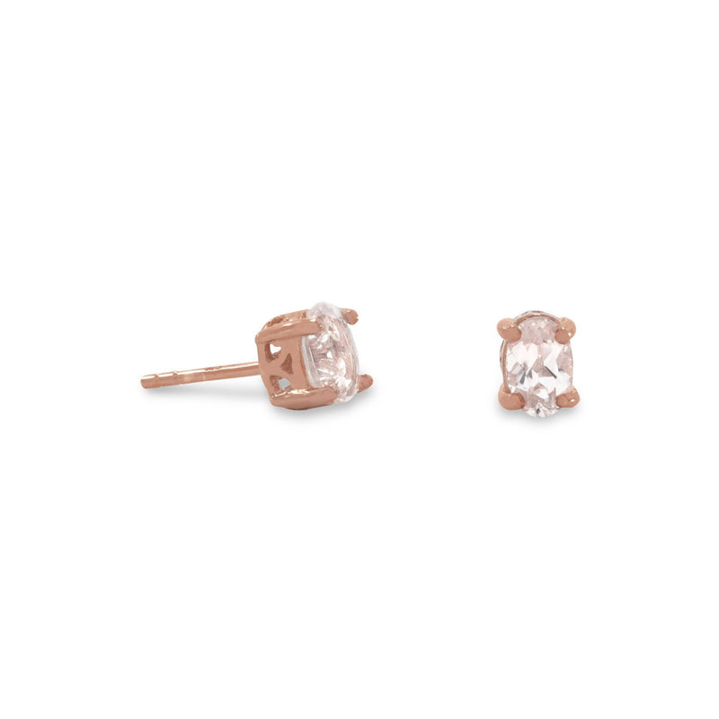 14 Karat Rose Gold Plated Morganite Earrings Item #: 66168