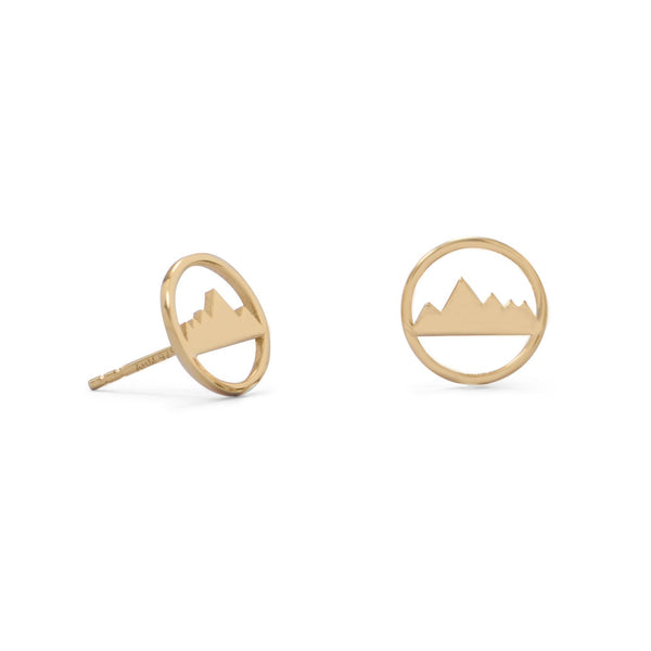 Peak of Fashion! Gold Plated Mountain Range Earrings
