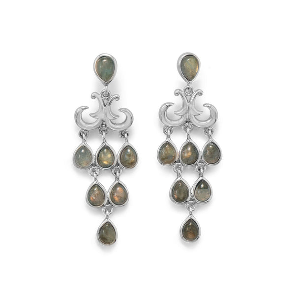 Pear Shape Labradorite Chandelier Earring