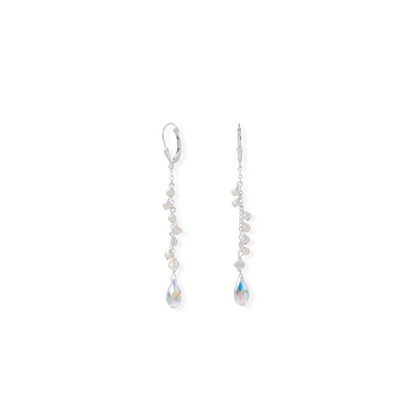 Swarovski Crystal and Cultured Freshwater Pearl Earrings
