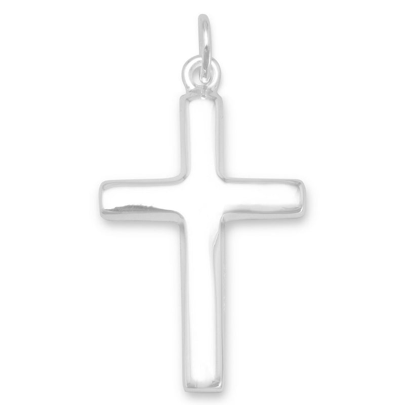 Plain Polished Cross Pendant