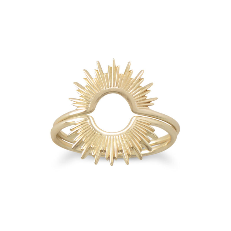 """Shine On!"" 14 Karat Gold Plated Sunburst Ring"