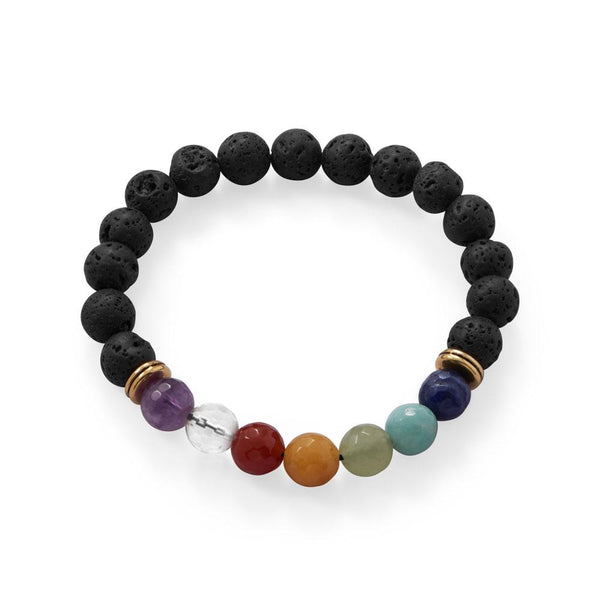 Gemstone Fashion Stretch Bracelet