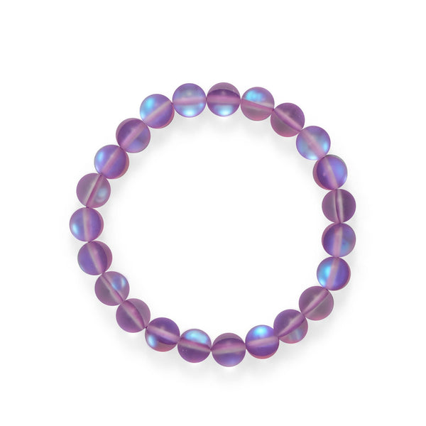 Fun! Orchid Color Stretch Glass Bracelet